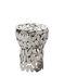 Sgabello Foliae - / Nichel - H 43 cm di Opinion Ciatti