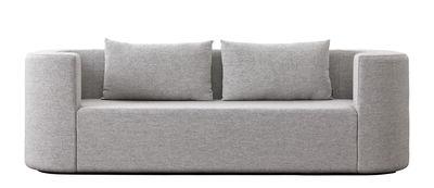 Möbel - Sofas - VP168 Tissu Sofa / 3 Plätze - L 253 cm - Verpan - Hellgrau - Holz, Kvadrat-Gewebe, Polyurethan-Schaum