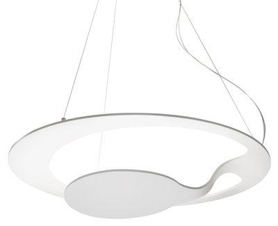 Illuminazione - Lampadari - Sospensione Glu - / Ø 70 cm di Fabbian - Bianco - alluminio verniciato