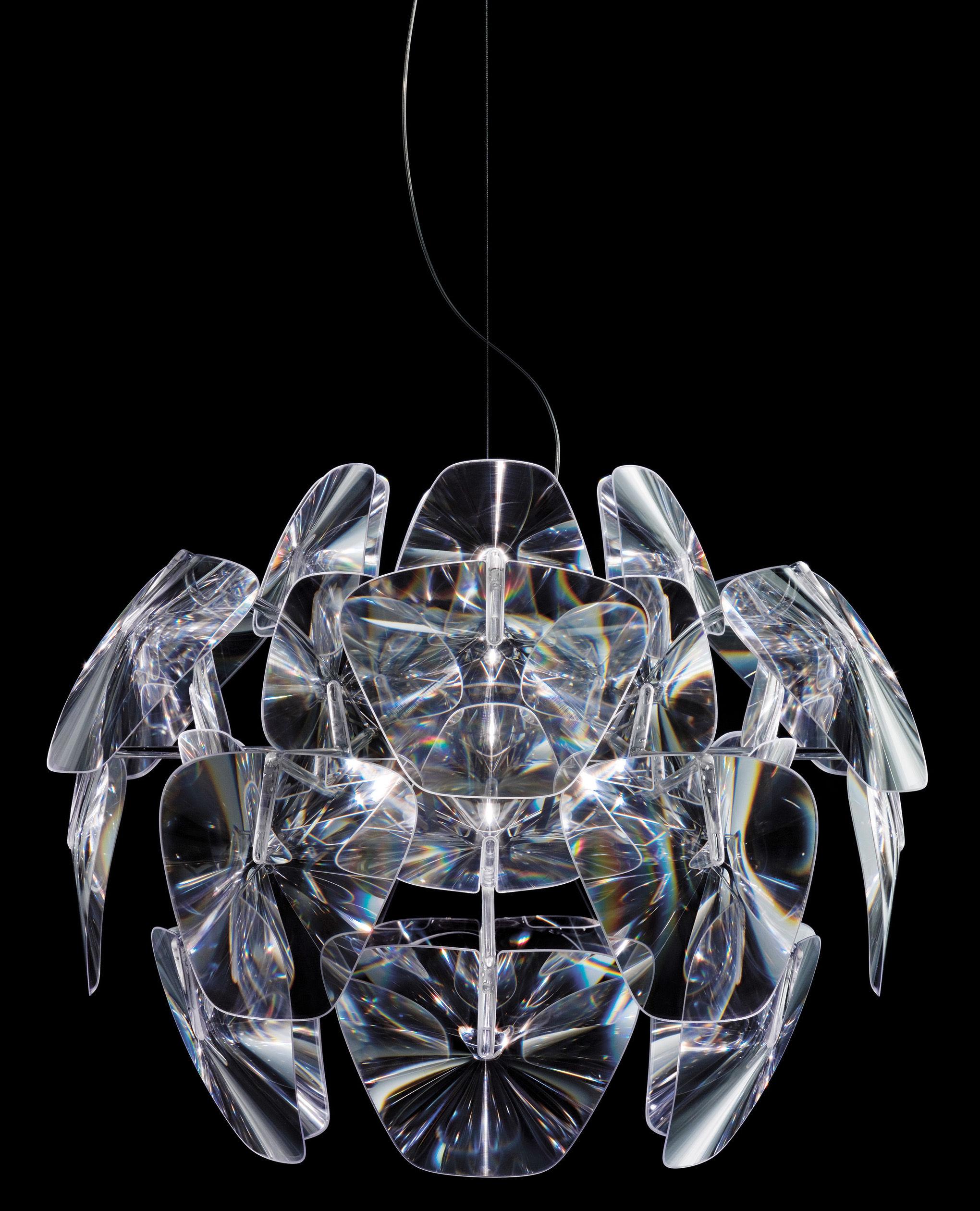 Illuminazione - Lampadari - Sospensione Hope di Luceplan - Ø 61 cm - Trasparente - policarbonato