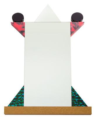 Interni - Specchi - Specchio Diva - by Ettore Sottsass / 1984 di Memphis Milano - Multicolore - Laminato plastico, Pannello medium impiallacciato radica di noce, Vetro
