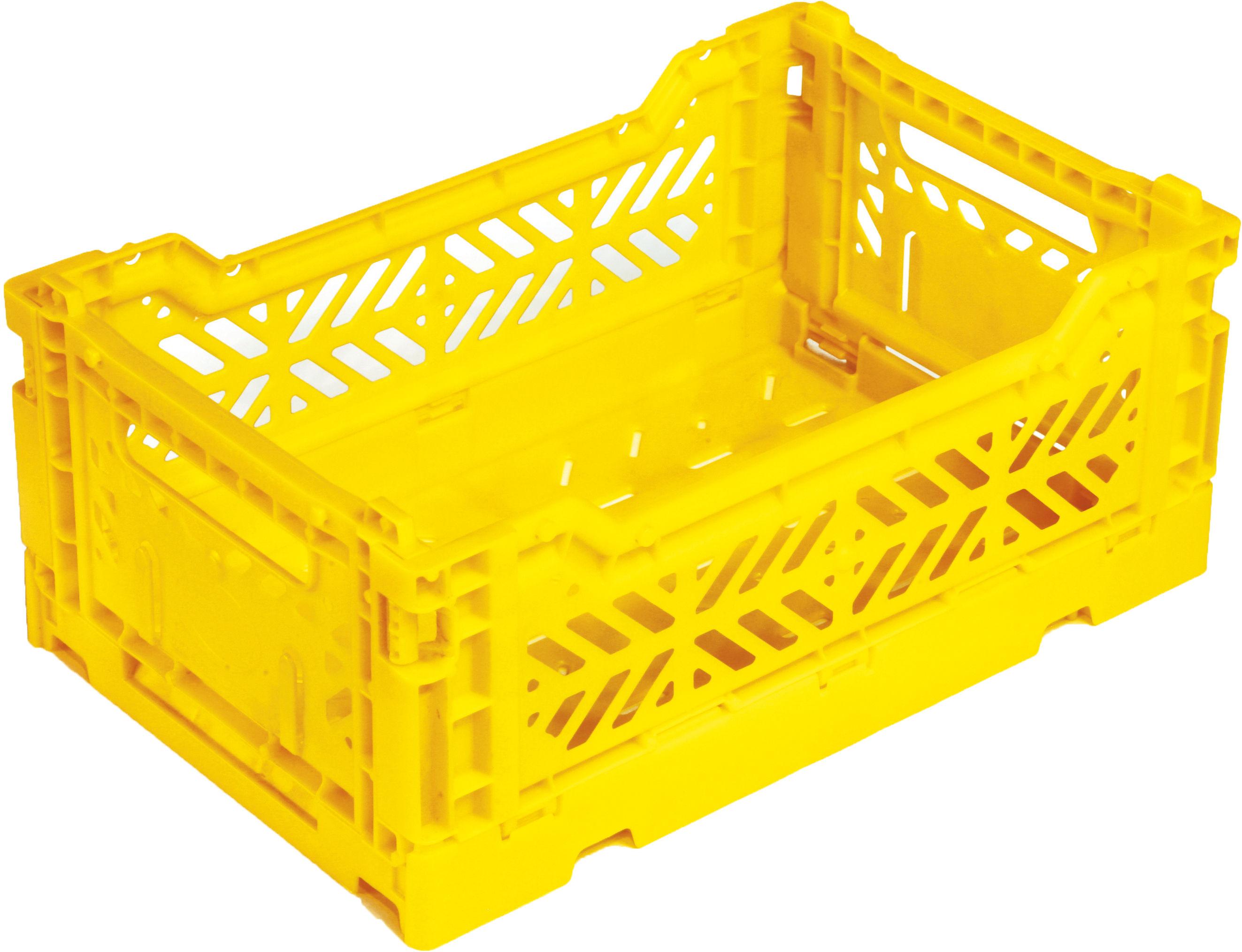 Accessories - Desk & Office Accessories - Mini Box Storage rack - Foldable L 26,5 cm by Surplus Systems - Pop Corn - Yellow - Polypropylene