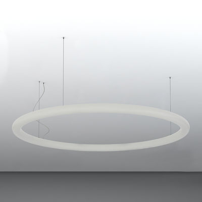 Suspension Giotto LED / Ø 140 cm - Polyéthylène - Slide blanc en matière plastique