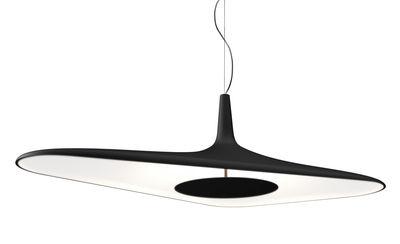 Suspension Soleil Noir LED / 120 x 62,5 cm - Luceplan noir en matière plastique