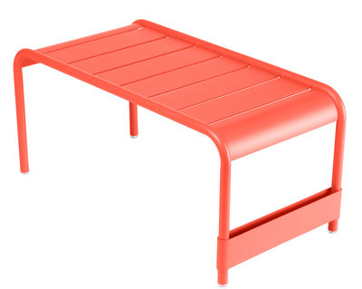Table basse Luxembourg / Banc - L 86 cm - Fermob capucine en métal