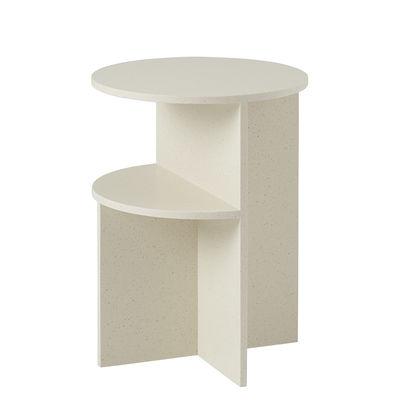 Mobilier - Tables basses - Table d'appoint Halves / 2 plateaux - Pierre acrylique - Muuto - Sable - Matériau composite