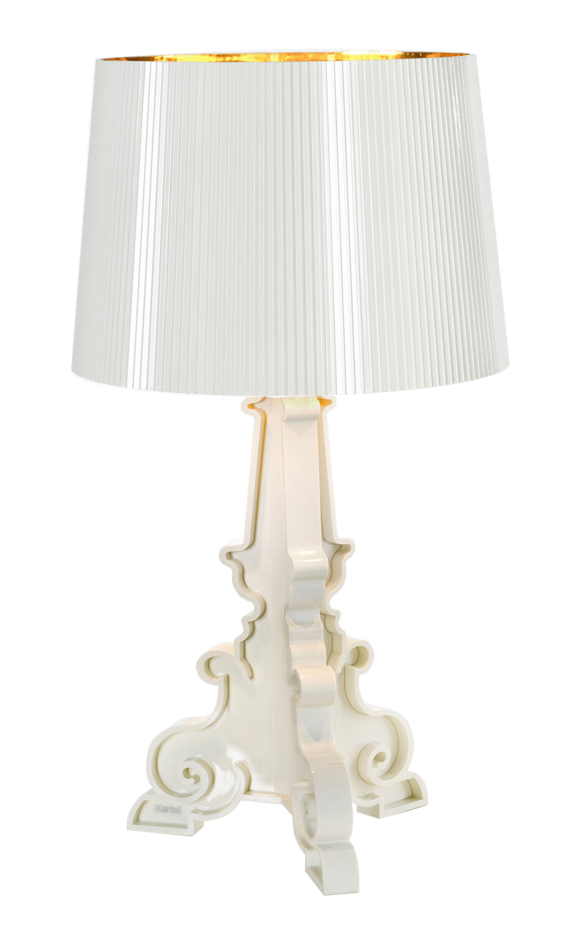 Lighting - Table Lamps - Bourgie Bianca Table lamp by Kartell - White / gold inside - ABS, Polycarbonate