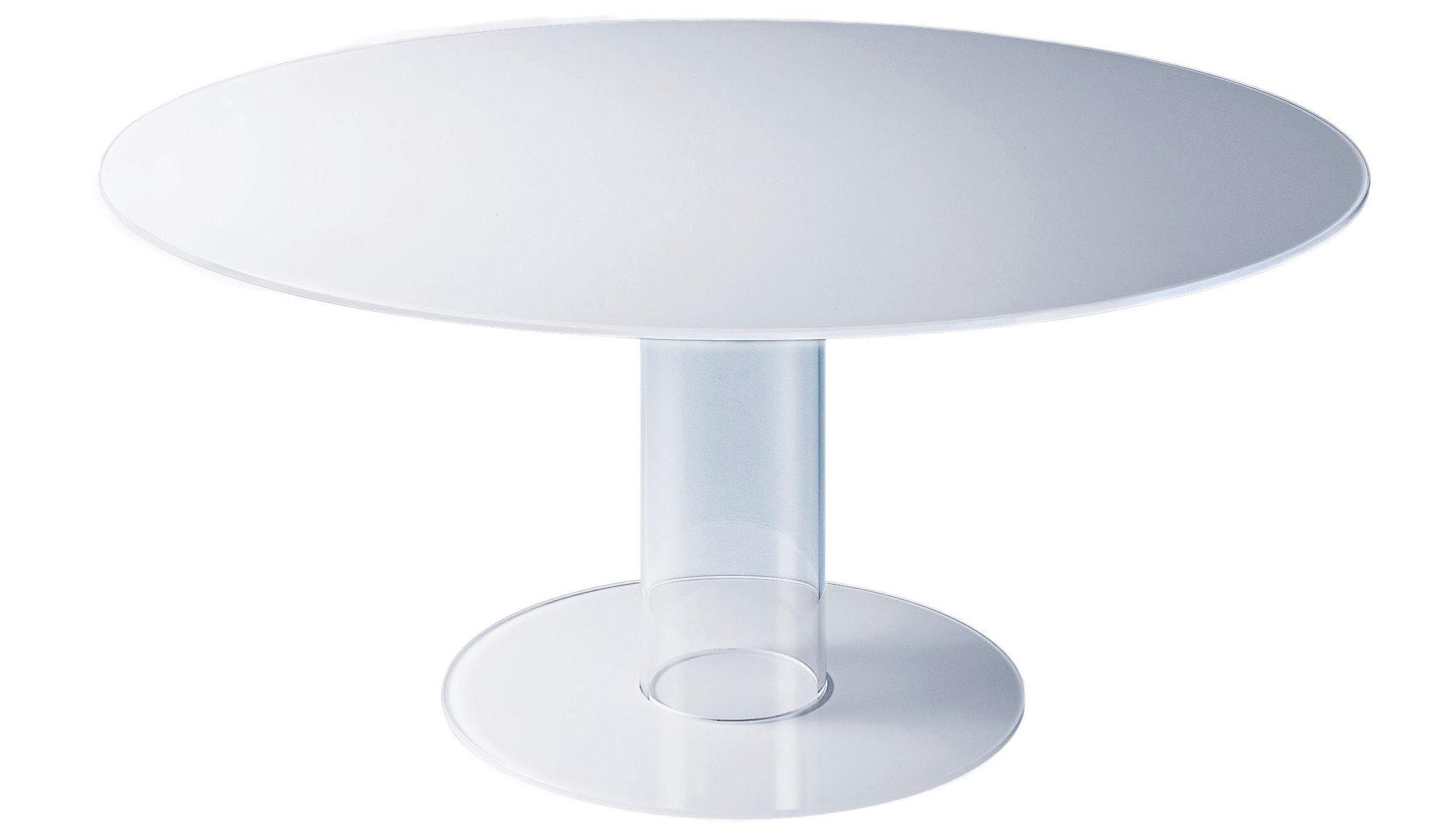 Mobilier - Tables - Table ronde Hub / Ø 140 cm - Glas Italia - Blanc - Ø 140 cm - Verre