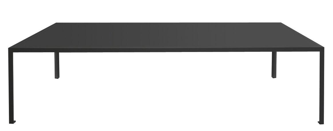 Arredamento - Tavoli - Tavolo rettangolare Tavolo - 280 x 120 cm di Zeus - Nero semi opaco/Linoleum nero - Acciaio verniciato, Linoleum