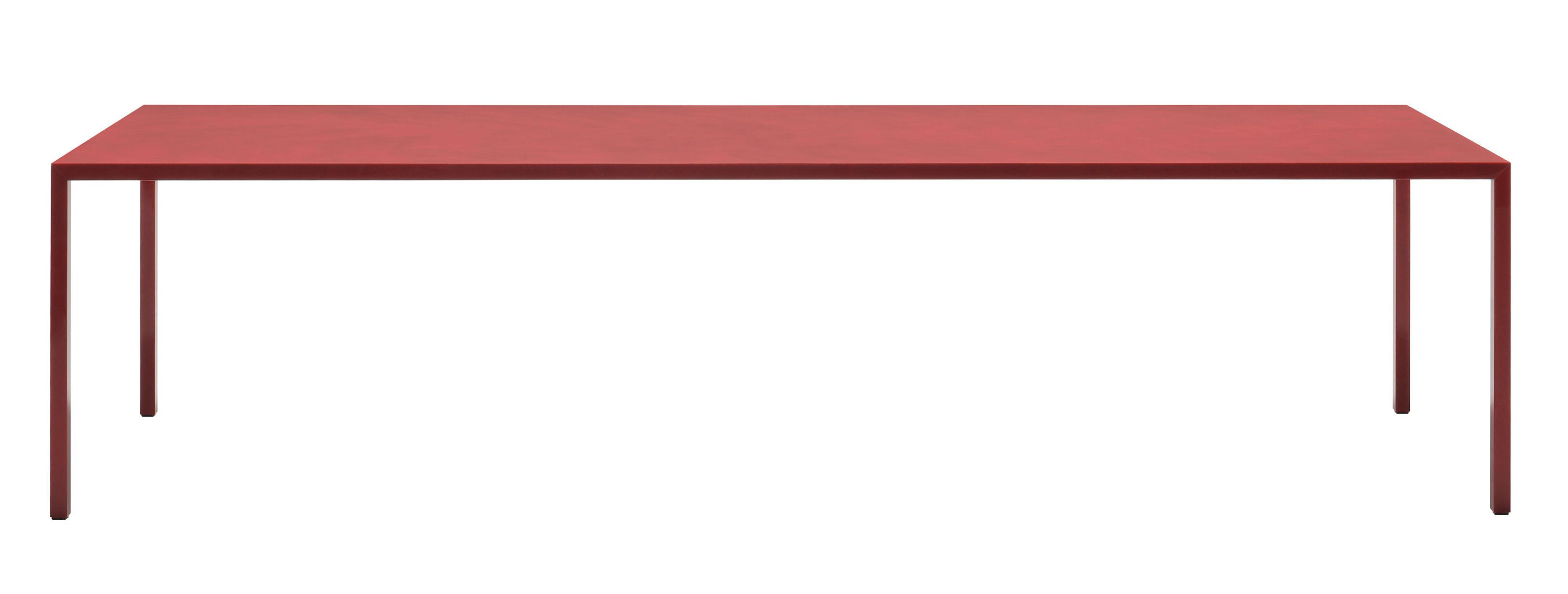 Arredamento - Tavoli - Tavolo rettangolare Tense Material Diamond - / 90 x 220 cm - Resina acrilico di MDF Italia - Rosso laccato Diamond - Acciaio, Pannello composito, Resina acrilica