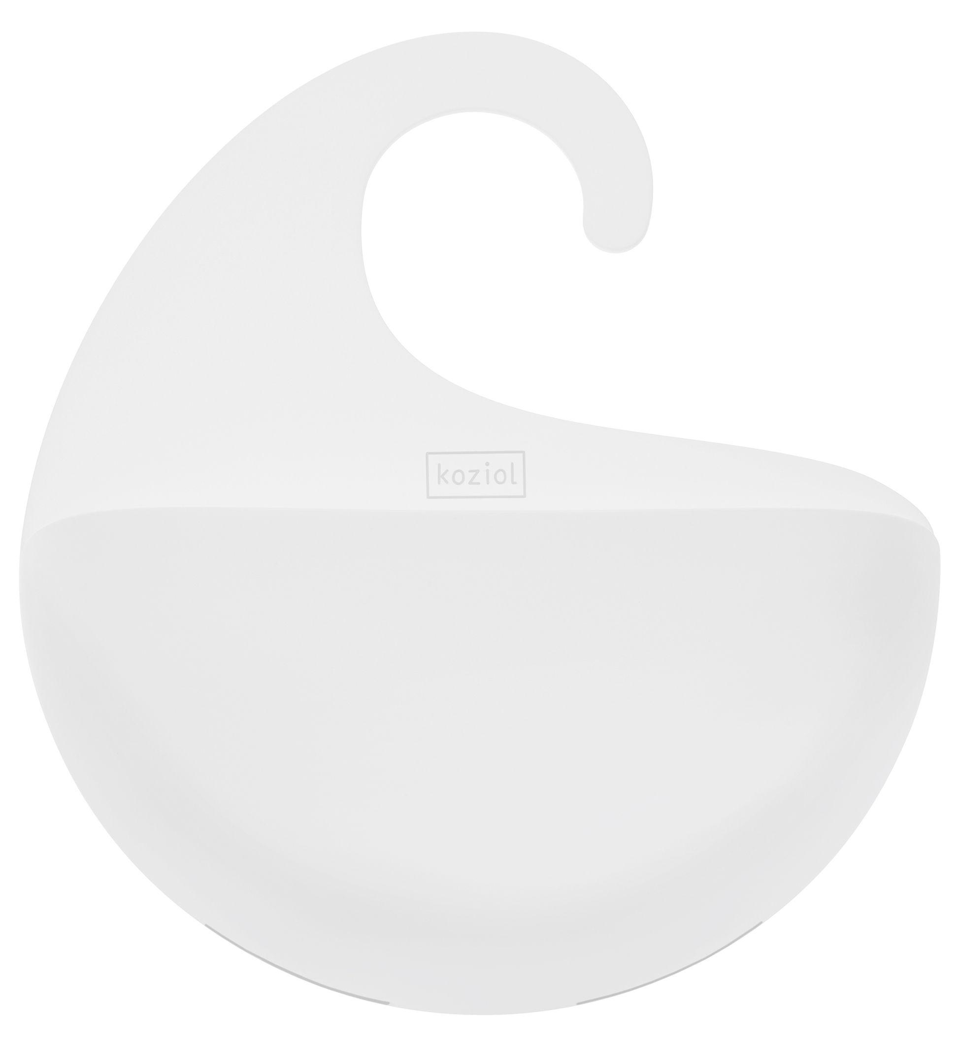 Interni - Bagno  - Vaschetta portaoggetti Surf - / da appendere di Koziol - Blanc opaque - Materiale plastico