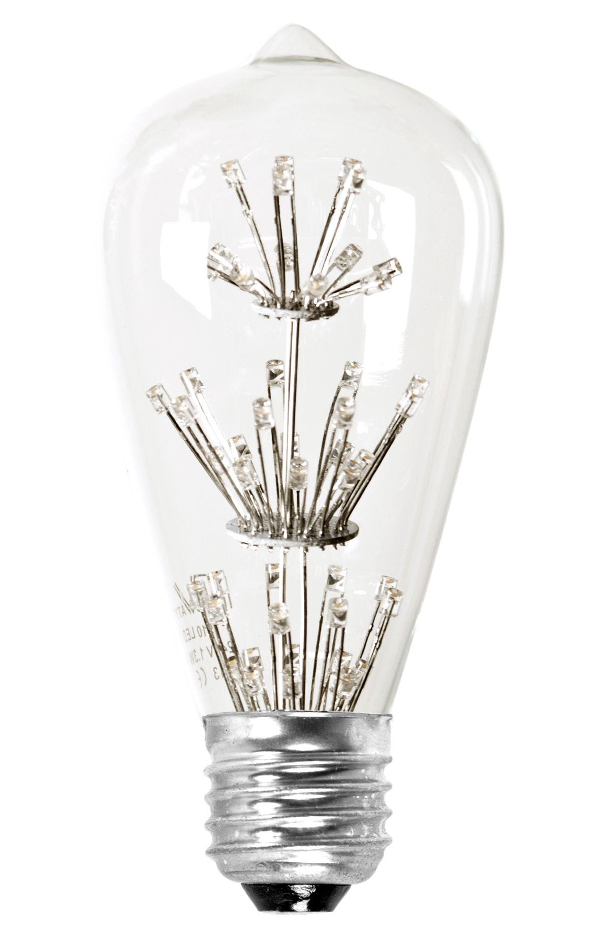 St-Valentin - Pour Lui - Ampoule LED filaments E27 / 1,3W (15W) - 100 lumen - Pop Corn - Transparent - Métal, Verre