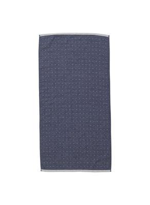 Dekoration - Wohntextilien - Sento Badetuch / Bio-Qualität - 100 x 50 cm - Ferm Living - Blau - Baumwolle