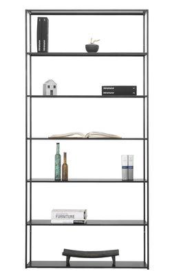 Mobilier - Etagères & bibliothèques - Bibliothèque Easy Irony / L 104 x H 226 cm - Zeus - Noir cuivré - Acier peint
