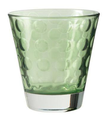Image of Bicchiere da whisky Optic / H 9 x Ø 8,5 cm - 22 cl - Leonardo - Verde - Vetro