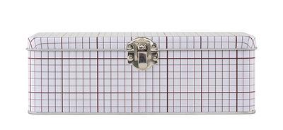 Accessoires - Pratique et malin - Boîte Lunch box / Graph 02 - House Doctor - Lignes bordeaux - Fer blanc