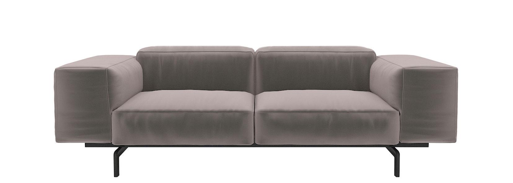 canap droit largo velluto 2 places l 226 cm velours velours tourterelle kartell. Black Bedroom Furniture Sets. Home Design Ideas