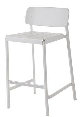 Mobilier - Tabourets de bar - Chaise de bar Shine / H 75 cm - Métal - Emu - Blanc - Aluminium verni