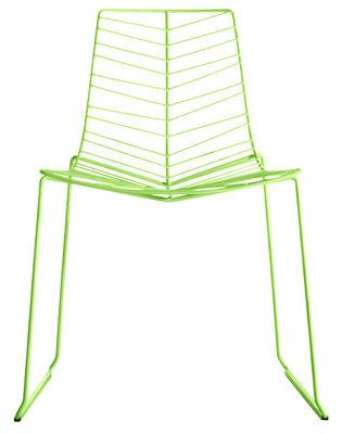 Chaise empilable Leaf / Métal - Arper vert en métal