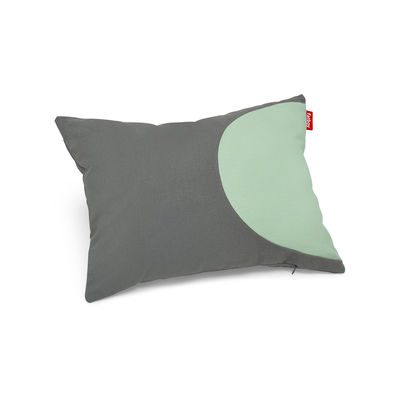 Coussin Pop Pillow / Coton - 50 x 37.5 cm - Fatboy gris,vert d'eau en tissu