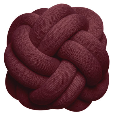Decoration - Cushions & Poufs - Knot Cushion - / Handmade - 30 x 30 cm by Design House Stockholm - Burgundy - Acrylic, Wool