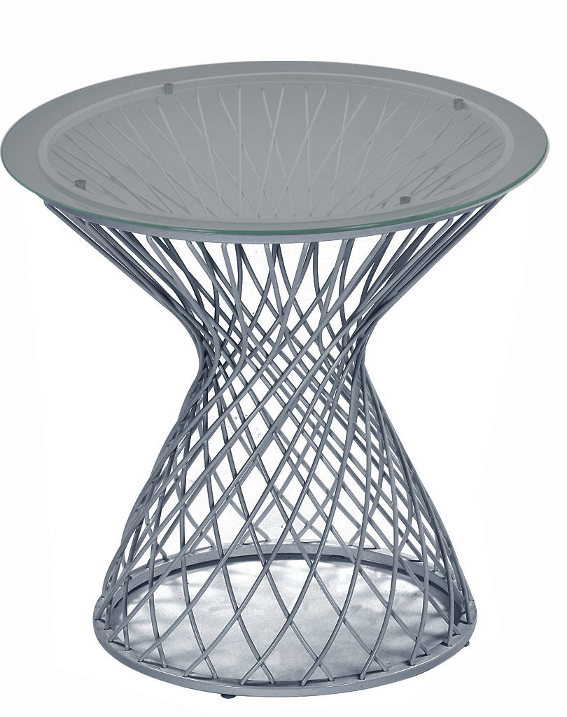 Furniture - Coffee Tables - Heaven End table by Emu - Aluminium - Glass, Steel