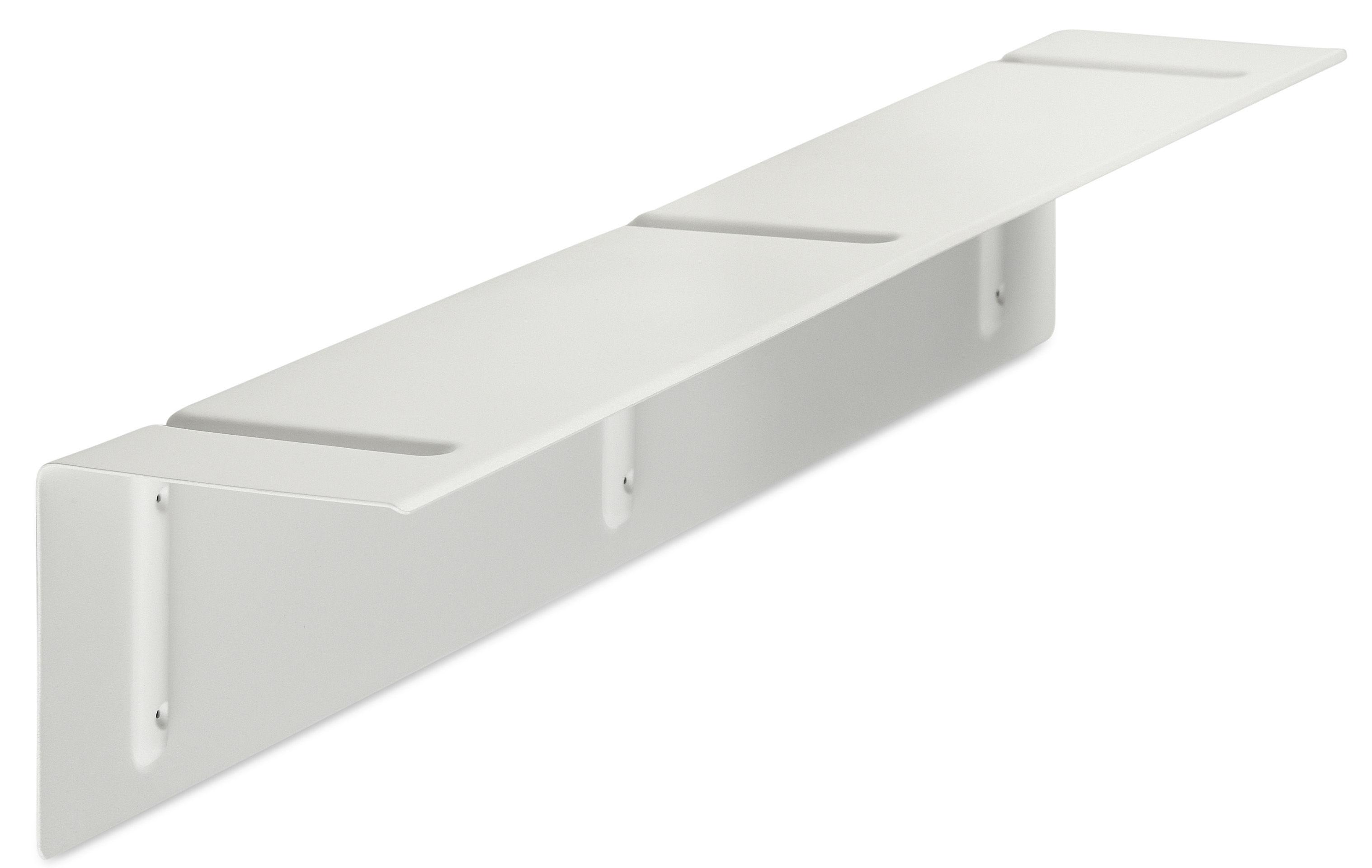 Mobilier - Etagères & bibliothèques - Etagère Brackets Included / L 120 cm - Hay - Blanc - Acier laqué