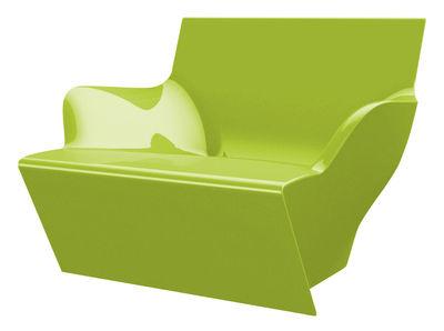 Chaise Kami San version laquée - Slide laqué vert en matière plastique