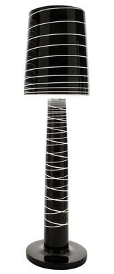 Lighting - Floor lamps - Miss Jane Floor lamp by Serralunga - Laqued black - Polythene