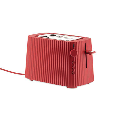 Arts de la table - Electroménager - Grille-pain Plissé / 2 tranches - 850W - Alessi - Rouge - Résine thermoplastique
