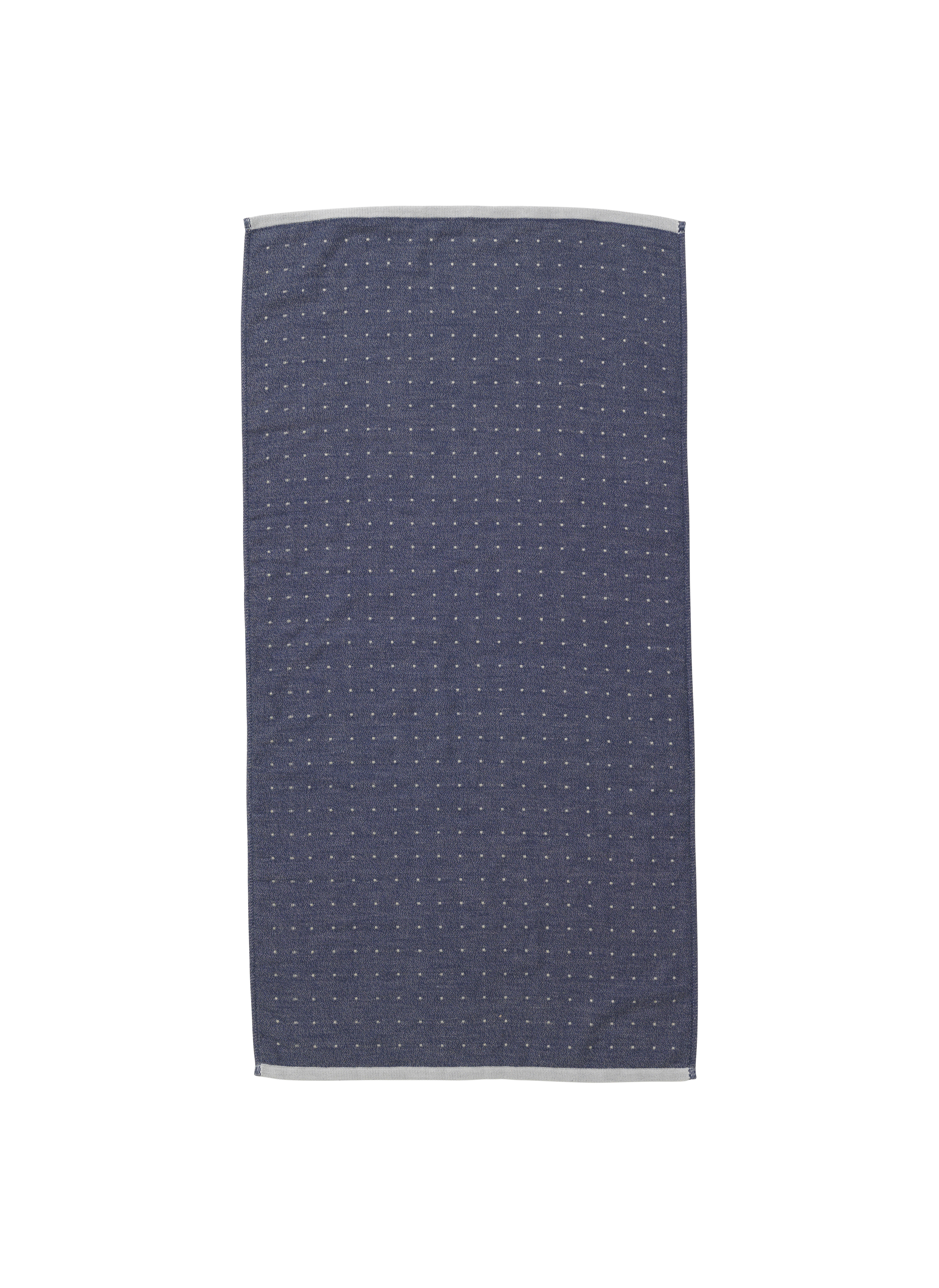 Decoration - Bedding & Bath Towels - Sento Hand towel - / Organic - 100 x 50 cm by Ferm Living - Blue - Cotton
