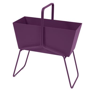 Outdoor - Pots et plantes - Jardinière Basket haute / L 70 x H 84 cm - Fermob - Aubergine - Acier, Aluminium
