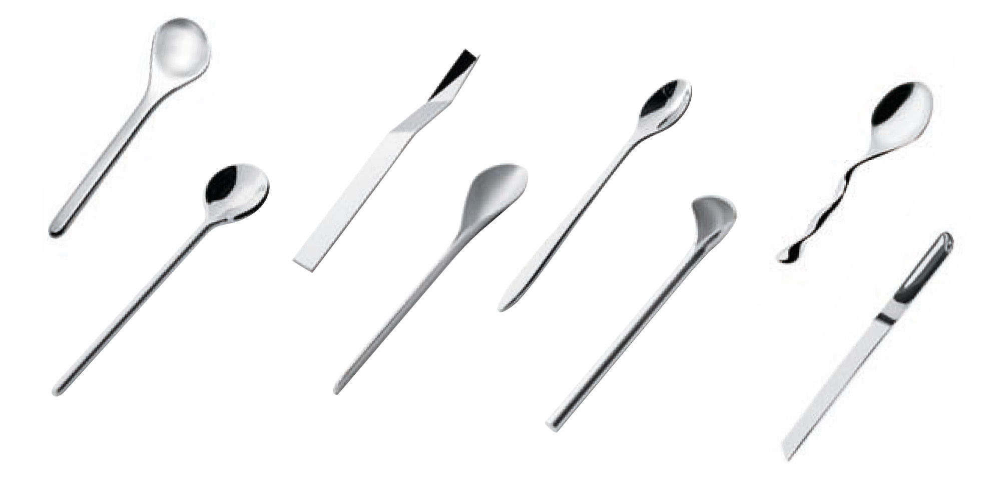 Tischkultur - Bestecke - Il caffè/tè Kaffeelöffel 8-er Set - Alessi - Edelstahl glänzend - polierter rostfreier Stahl