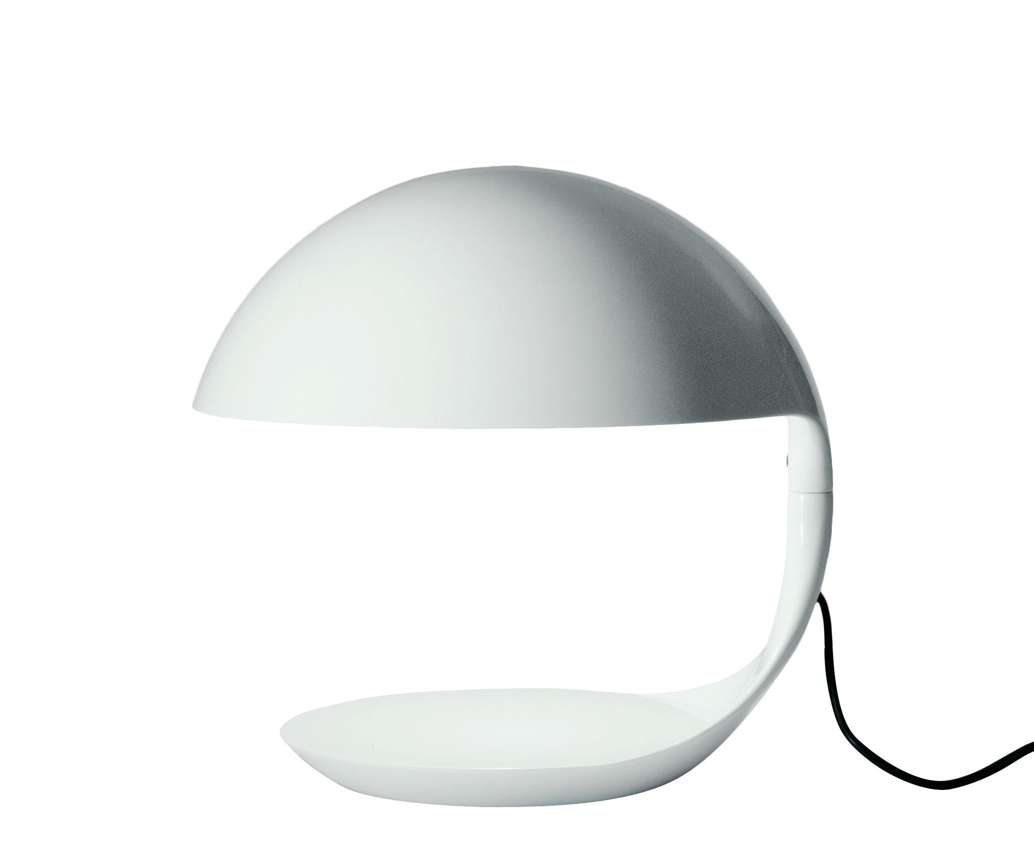 Illuminazione - Lampade da tavolo - Lampada da tavolo Cobra di Martinelli Luce - Bianco - Resina