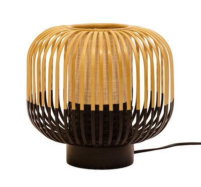 Luminaire - Lampes de table - Lampe de table Bamboo Light / H 24 x Ø 27 cm - Forestier - H 24 cm - Noir - Bambou naturel