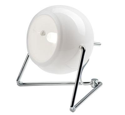 Luminaire - Lampes de table - Lampe de table Beluga Verre blanc / version verre - Fabbian - Verre blanc - Métal chromé, Verre