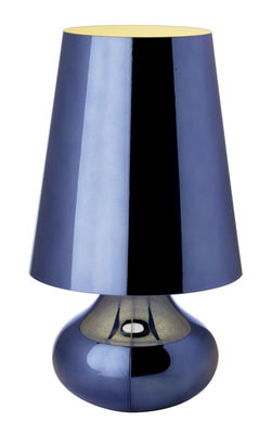 Luminaire - Lampes de table - Lampe de table Cindy - Kartell - Bleu ciel - Technopolymère métallisé