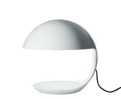 Lampe de table Cobra / 1968 - Martinelli Luce blanc en matière plastique