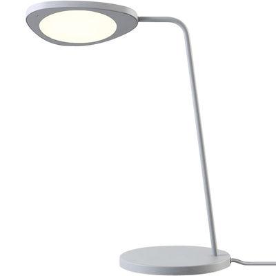 Luminaire - Lampes de table - Lampe de table Leaf / LED - Métal - Muuto - Gris - Aluminium