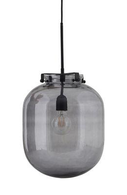 Ball Pendelleuchte / Glas - Ø 30 cm x H 35 cm - House Doctor - Schwarz,Rauchgrau