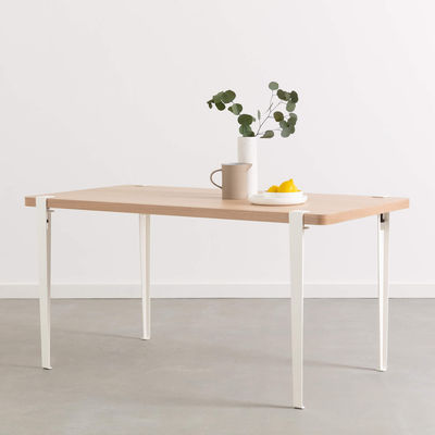 Pied avec fixation étau / H 75 cm - Pour créer table & bureau - TIPTOE blanc en métal