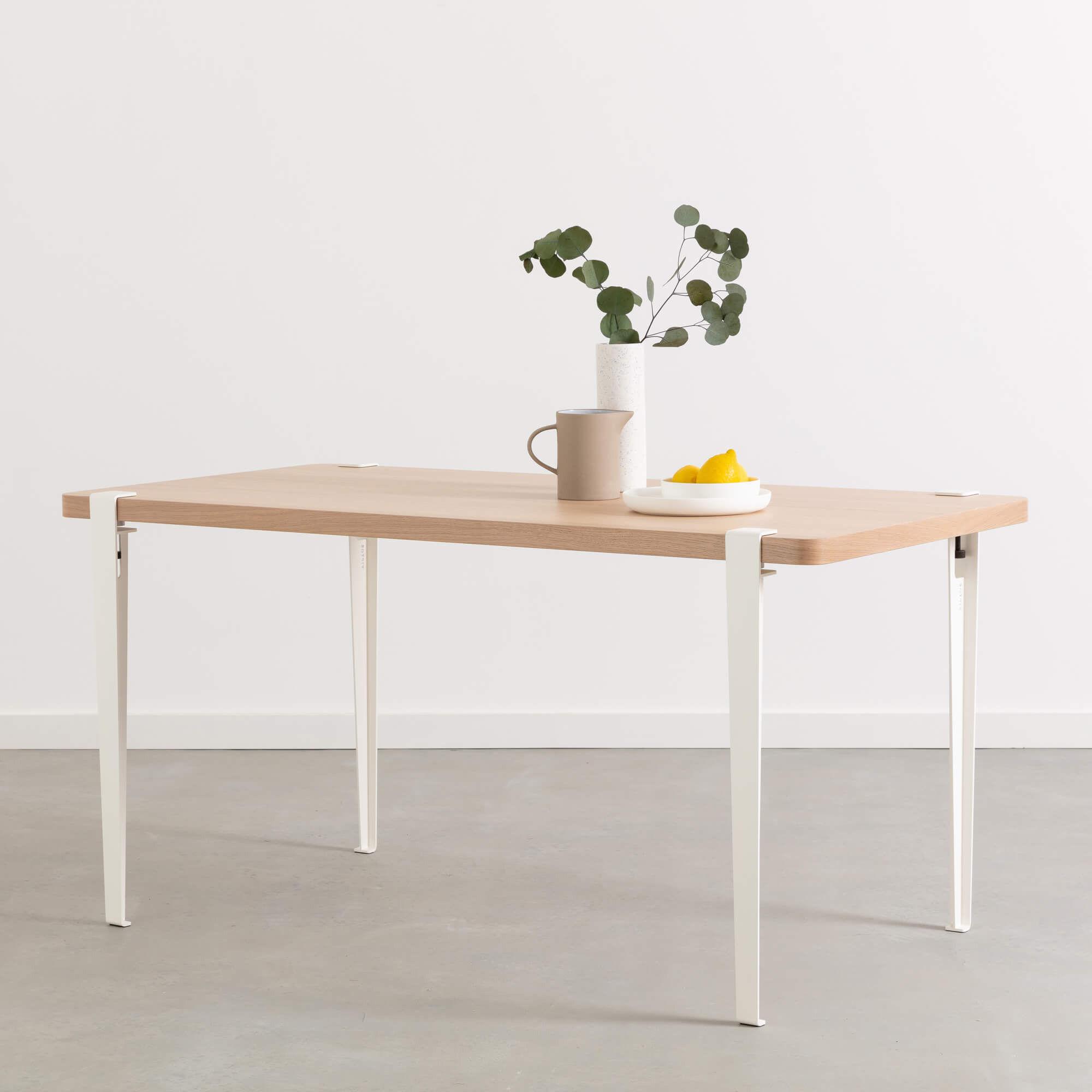 Mobilier - Bureaux - Pied avec fixation étau / H 75 cm - Pour créer table & bureau - TipToe - Blanc Nuage - Acier thermolaqué