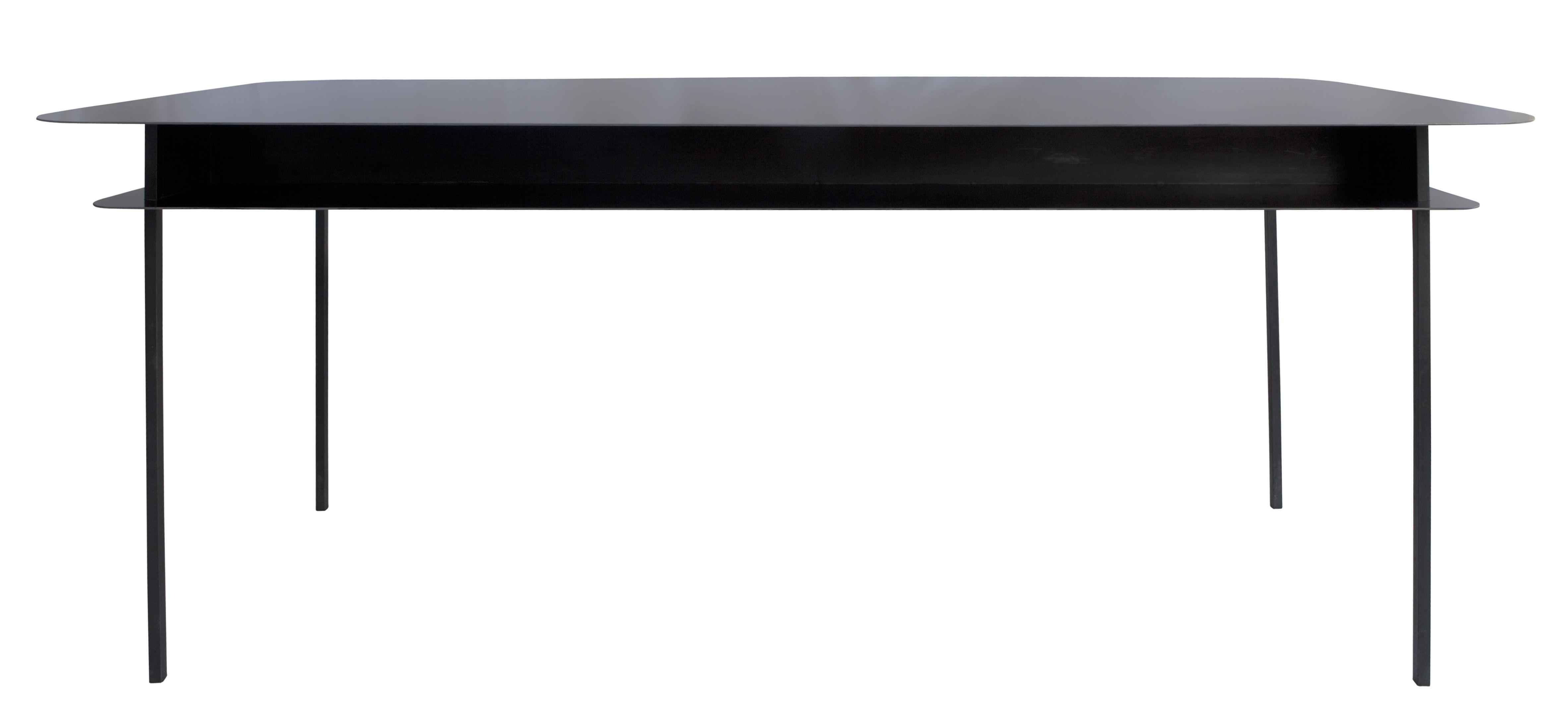 Möbel - Büromöbel - Tokyo Schreibtisch / 100 x 60 cm - Maison Sarah Lavoine - Schwarz - Stahl