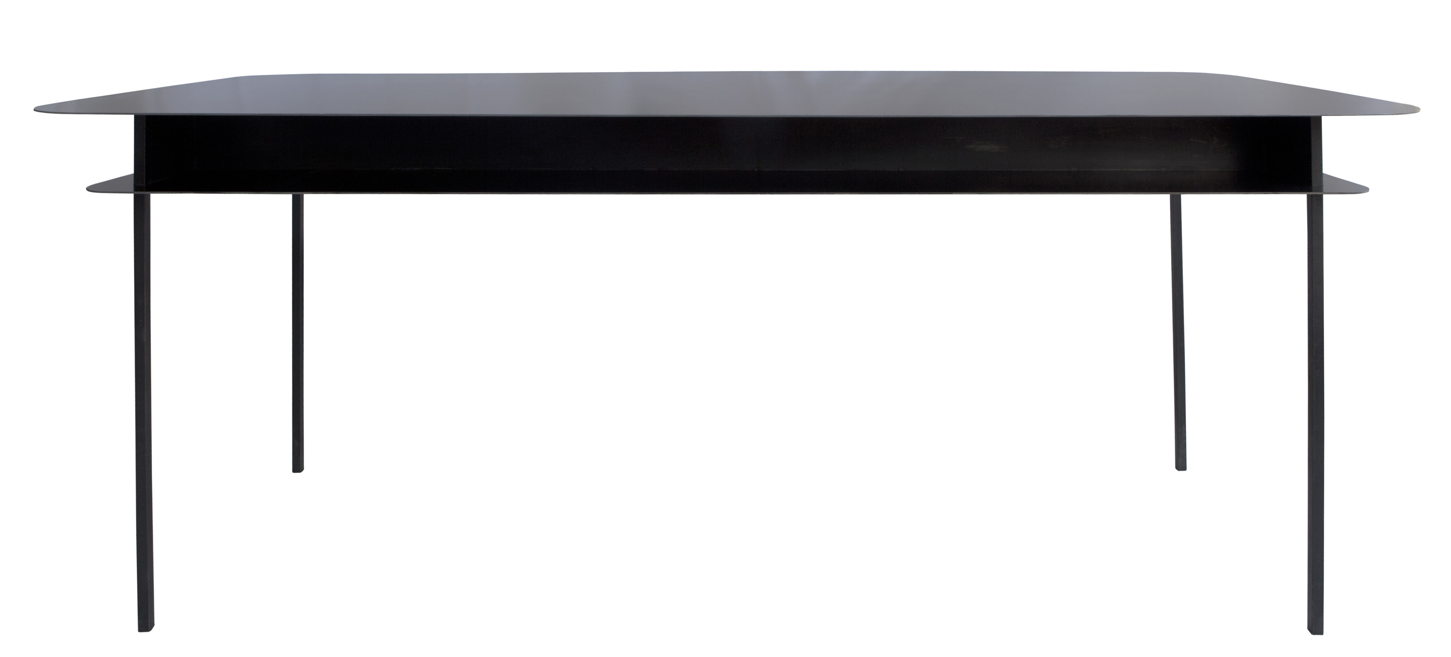 Arredamento - Mobili da ufficio - Scrivania Tokyo / 100 x 60 cm - Sarah Lavoine - Nero - Acciaio