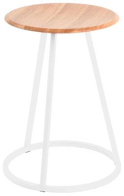 Image of Sgabello Gustave - / H 45 cm di Hartô - Bianco - Metallo/Legno