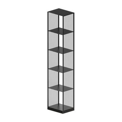 Furniture - Bookcases & Bookshelves - Tristano Large Shelf - / H 190 cm by Zeus - Sanded black copper - Steel