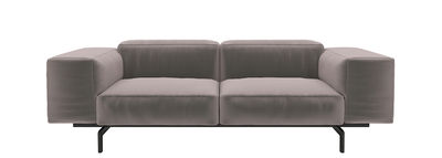 Largo Velluto Sofa / 2-Sitzer - L 226 cm - Velours - Kartell - Taubenblau