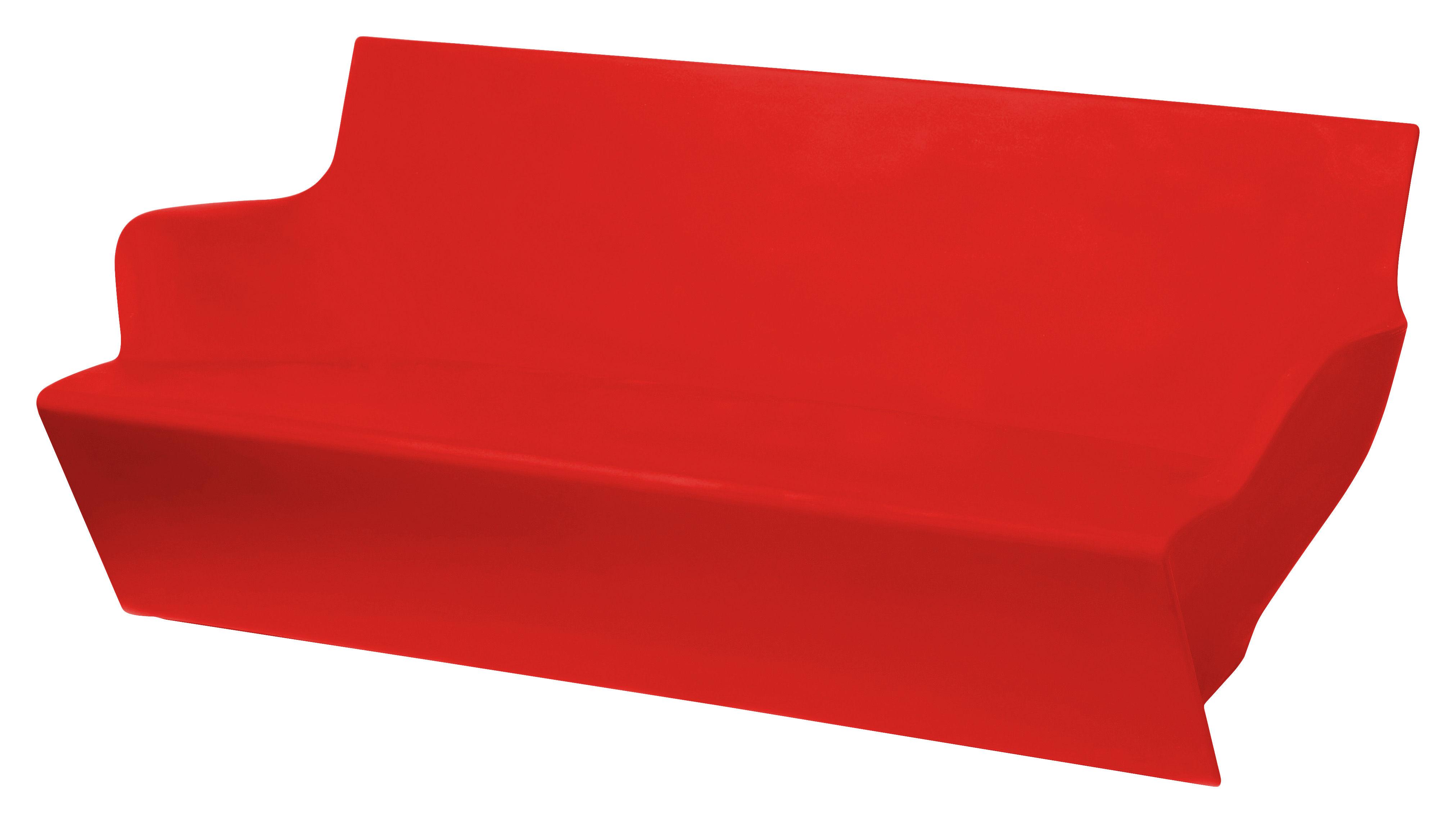 Outdoor - Sofas und Lounge Sessel - Kami Yon Sofa - Slide - Rot - recycelbares Polyethen