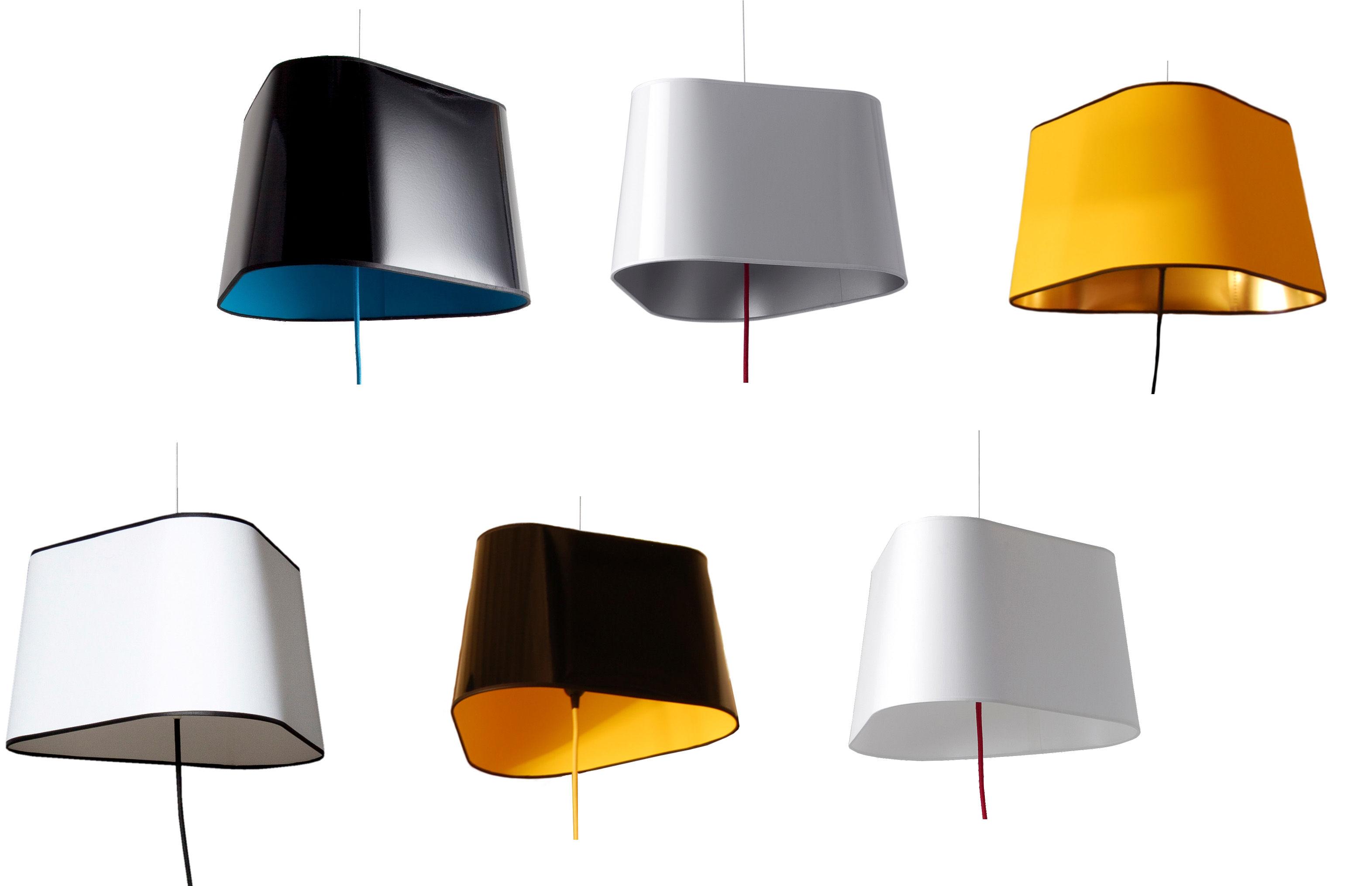 suspension grand nuage designheure - noir/jaune/or   made in design
