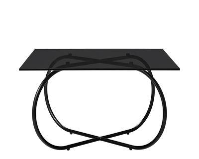 Table basse Angui / Verre - 75 x 75 cm - AYTM noir,fumé noir en verre